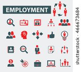 employment icons | Shutterstock .eps vector #466673684
