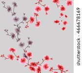 seamless pattern small red and...   Shutterstock . vector #466678169