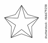 star icon in outline style... | Shutterstock . vector #466679258