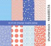 vector cute set of geometric... | Shutterstock .eps vector #466688156