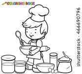 Little Boy Preparing To Cook...