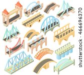 isometric bridges stadium icons ... | Shutterstock .eps vector #466696370