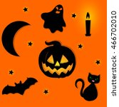halloween background with... | Shutterstock .eps vector #466702010