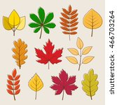 vector collection of autumn... | Shutterstock .eps vector #466703264