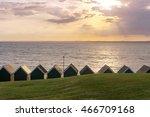 sunset in gurnard   isle of... | Shutterstock . vector #466709168