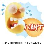 3d illustration sad character... | Shutterstock . vector #466712966
