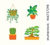 green home plants for room... | Shutterstock .eps vector #466717298