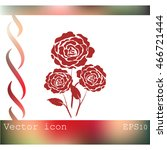 rose vector icon | Shutterstock .eps vector #466721444