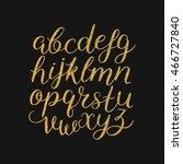 vector handwritten brush script ... | Shutterstock .eps vector #466727840