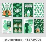 alternative medicine cards set... | Shutterstock .eps vector #466729706