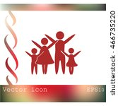 family vector icon | Shutterstock .eps vector #466735220