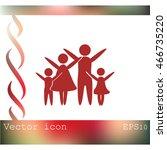 family vector icon | Shutterstock .eps vector #466735220