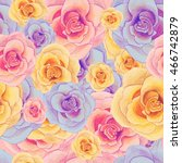 watercolor seamless pattern... | Shutterstock . vector #466742879