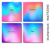 set of artistic colorful... | Shutterstock .eps vector #466753340
