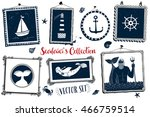 collection of nautical symbols  ... | Shutterstock .eps vector #466759514