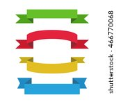 flat ribbons vector set. | Shutterstock .eps vector #466770068