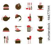 food icons | Shutterstock .eps vector #46677544