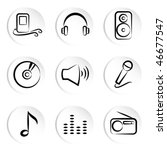 music icons | Shutterstock .eps vector #46677547
