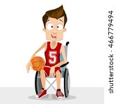 disabled basketball player on... | Shutterstock .eps vector #466779494