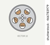 line flat color vector icon... | Shutterstock .eps vector #466783979