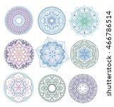 mandala.floral mandalas set...   Shutterstock .eps vector #466786514