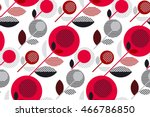 red and black 60s floral retro...