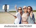 summer vacation  holidays ... | Shutterstock . vector #466791869