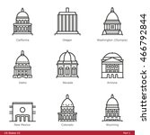 us state capitols  part 1   ... | Shutterstock .eps vector #466792844