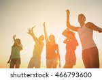 friendship  summer vacation ... | Shutterstock . vector #466793600