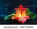 Christmas Time Red Latern  Wit...
