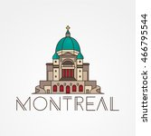 saint joseph oratory in... | Shutterstock .eps vector #466795544