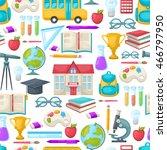 school seamless background... | Shutterstock .eps vector #466797950