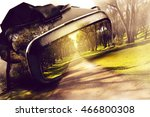 virtual reality glasses  with... | Shutterstock . vector #466800308