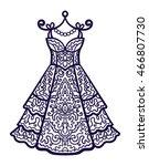 vector  contour  illustration ... | Shutterstock .eps vector #466807730