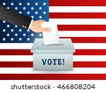 voting concept in flat style  ... | Shutterstock .eps vector #466808204