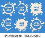 splash and blot milk labels... | Shutterstock .eps vector #466809290