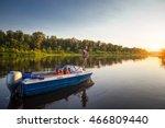 Mature Man On A Motor Boat....