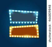 retro lighting  banner with... | Shutterstock .eps vector #466809848