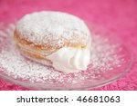 Cream Donuts On Pink