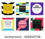 set of creative social media...   Shutterstock .eps vector #466810748