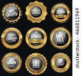 golden badges and labels retro...   Shutterstock .eps vector #466811969