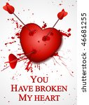 valentine's day card. broken... | Shutterstock .eps vector #46681255