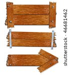 old wooden boards and planks... | Shutterstock . vector #46681462