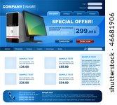website template. vector...   Shutterstock .eps vector #46681906