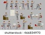 business men group grey suit... | Shutterstock .eps vector #466834970