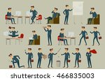 set of six vector illustration... | Shutterstock .eps vector #466835003