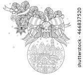vector cute fairy doodle... | Shutterstock .eps vector #466837520