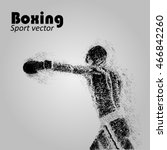 boxer from particles. boxing... | Shutterstock .eps vector #466842260