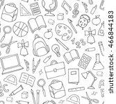 vector school supplies seamless ...   Shutterstock .eps vector #466844183