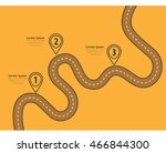road trip and journey route.... | Shutterstock .eps vector #466844300